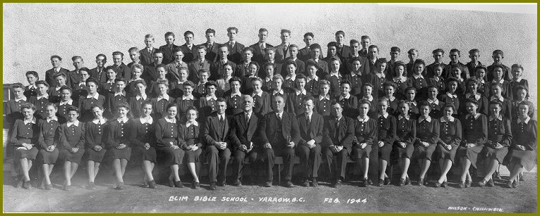 Elim Bible School 1943-44