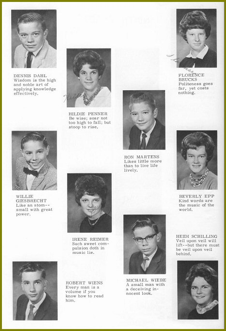 Sharon Mennonite Collegiate Grade Nine Class of 1964