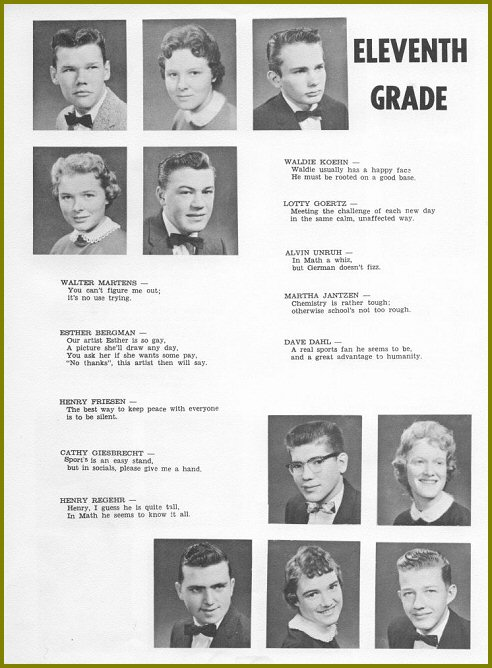 Sharon Mennonite Collegiate Grade Eleven Class of 1960