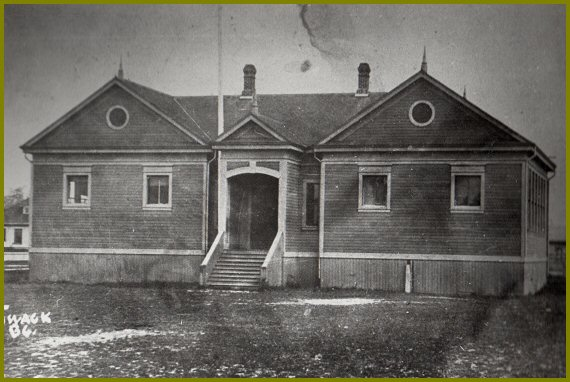 1904 - Chilliwack's first high school was built at the intersection of College and Young Streets
