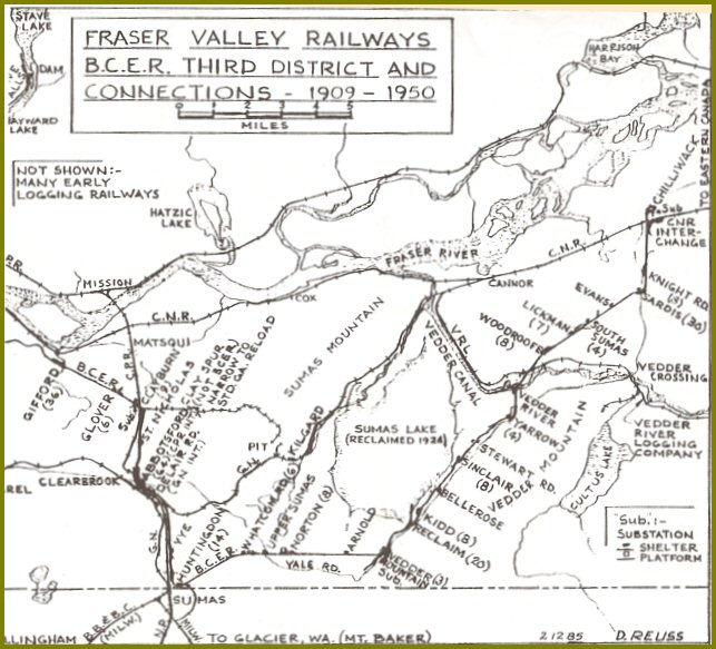 1909-1950 Fraser Valley Railways: B.C.E.R. Stations