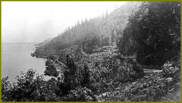 Sumas Lake Looking East Along Vedder Mountain - 1915